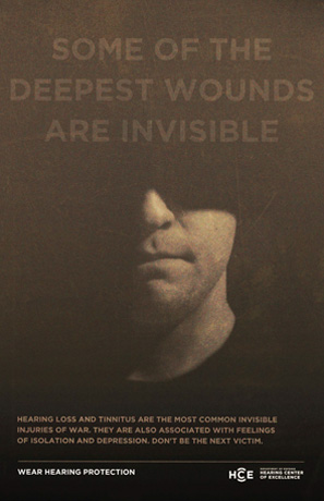 Some of the Deepest Wounds Are Invisible, option 1 poster