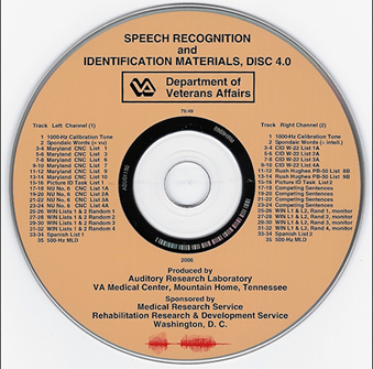Speech Recognitions and Identification Materials (Disc 4.0)