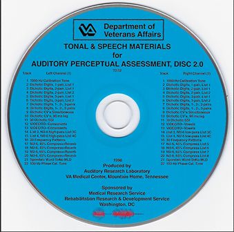 Tonal and Speech Materials for Auditory Perceptual Assessment (Disc 2.0)